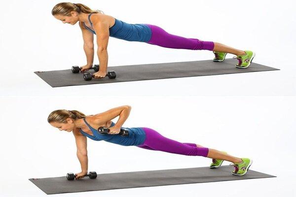 Bài tập Plank nâng tay