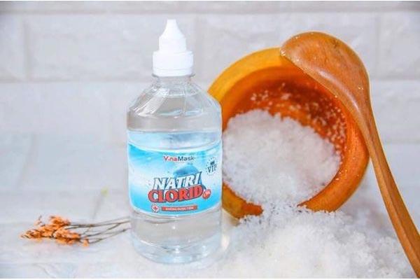 cách sử dụng nước muối sinh lý